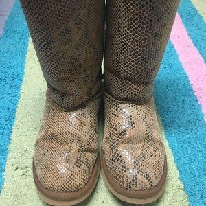 * UGG Snake Skin Boots